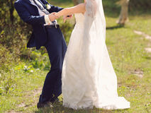 Whirling Couple in Sunlight Stock Images