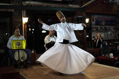 Whirling Dervish in Istanbul. Whirling Dervish dancing  in Istanbul, Turkey. Photo taken at 22nd of Mai 2011 Stock Images