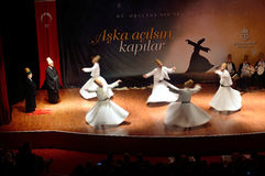 Whirling dervish (Semazen) Stock Photography