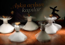 Whirling dervish (Semazen) Stock Images