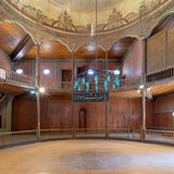 Whirling Dervishes Ceremony hall at the Mevlevi Tekke, Cairo, Egypt. Cairo, Egypt - April 1 2018: Whirling Dervishes Ceremony hall at the Mevlevi Tekke, a Royalty Free Stock Photography