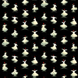Whirling dervishes pattern Royalty Free Stock Photo