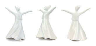 Whirling derwishes isolated on white background Royalty Free Stock Image