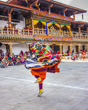 Whirling masked dancer Royalty Free Stock Photography