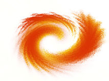 Whirling motion. Abstract movement of a fiery swirl or wave Royalty Free Stock Images