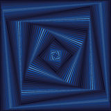 Whirling sequence with blue square forms Royalty Free Stock Photo