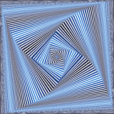 Whirling sequence with blue and white square forms Stock Photos