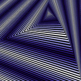Whirling sequence with blue and white triangle forms Stock Photo