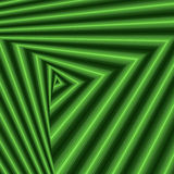 Whirling sequence with green triangle forms Stock Photo