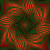 Whirling sequence with red and green octagonal star forms Royalty Free Stock Photography