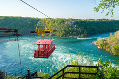 Whirlpool Aero Car. At Niagara, Canada. Beautiful and scenic view of the Whirlpool at Niagara falls royalty free stock images