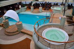 Whirlpool area on ship Stock Images