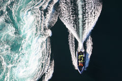 Whirlpool boat stock images