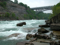Whirlpool bridge. Niagara river and whirlpool bridge stock images