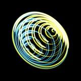 Whirlpool, calabozo, líneas radiales con la distorsión giratoria Espiral abstracto, forma del vórtice, elemento Fotos de archivo libres de regalías