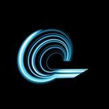 Whirlpool, calabozo, líneas radiales con la distorsión giratoria Espiral abstracto, forma del vórtice, elemento Foto de archivo libre de regalías