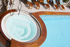 Whirlpool on the deck of a cruise ship Royalty Free Stock Image