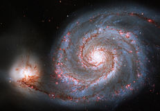 Whirlpool Galaxy. Spiral galaxy M51 or NGC 5194 stock photography