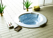 Whirlpool inside outside Royalty Free Stock Image