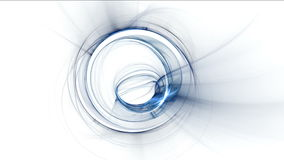 Whirlpool, movimiento rotatorio azul dinámico Imagenes de archivo
