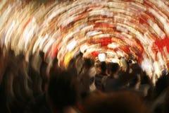 Whirlpool of people Stock Photo