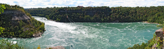The Whirlpool rapids of the Niagara river Royalty Free Stock Image
