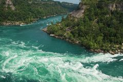 Whirlpool rapids Royalty Free Stock Photography