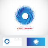 Whirlpool swirl blue logo Royalty Free Stock Photos