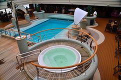 Whirlpool y piscina Fotos de archivo libres de regalías