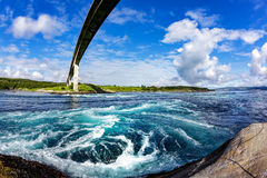 Whirlpools of the maelstrom of Saltstraumen, Nordland, Norway Stock Photos