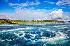 Whirlpools of the maelstrom of Saltstraumen, Nordland, Norway Royalty Free Stock Photo