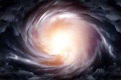 Whirlwind στα σύννεφα στοκ εικόνα