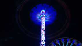 Whirlwind amusement ride Stock Images
