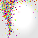 Whirlwind of confetti Stock Image