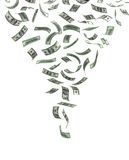 Whirlwind of Money Stock Image