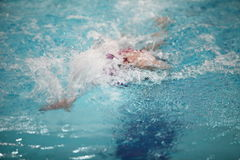 Whirlwind swimmer stroke Royalty Free Stock Images