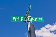 Whirly Bird Road Arizona Royalty Free Stock Photography