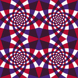 Whirly geometrisches nahtloses Muster. vektor abbildung