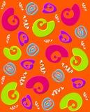 Whirly Swirly pomarańcze Obraz Stock