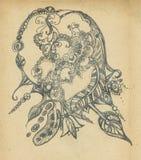 Whis do fundo o teste padrão decorativo desenhado ilustração do vetor