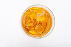 Whiscky or whiskey with ice Stock Image
