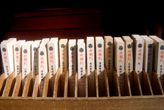 Whishing plates in Toshogu Shrine, Nikko, Japan Stock Photos