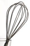 Whisk. Stainless Steel Whisk over white background Stock Image