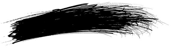 Whisk. 1-bit (black only) high resolution scribble. Useful as a mask or background element Royalty Free Stock Images