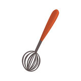 Whisk or beater, kitchen utensil cartoon vector Illustration Royalty Free Stock Images