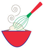 Whisk and Bowl Stock Photography