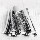 Whisk and Cloth Royalty Free Stock Photography