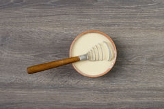 Whisk in the dough Royalty Free Stock Images