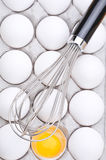 Whisk on Eggs Royalty Free Stock Images