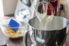 Whisk full of cream Stock Photography